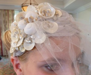 sea shell head piece flower girl
