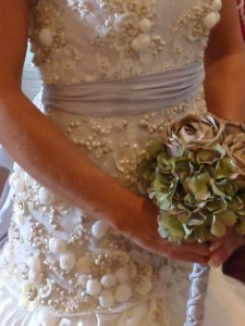 sea shell wedding dress