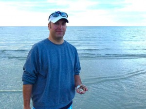 shawn kansas with sanibel seashells