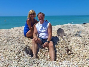 digging sea shells captiva
