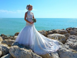seashell wedding dress captiva island florida