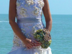 wedding seashell bodice