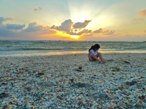 Jaclyn in sanibel sunset shells