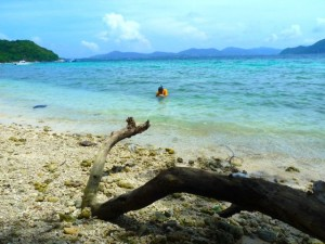 snorkeling coral island thailand