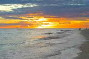 blazing sanibel sunset