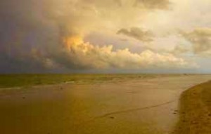 storm cloud sanibel beach