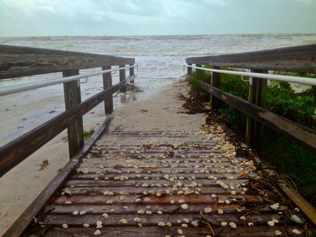 Tropical Storm Isaac Hits Sanibel