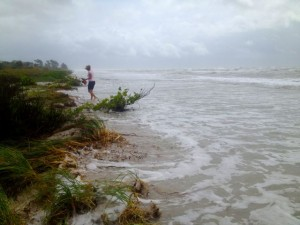 high tide tropical storm isaac sanibel
