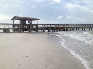 Sanibel Pier Tropical Storm Isaac 2012