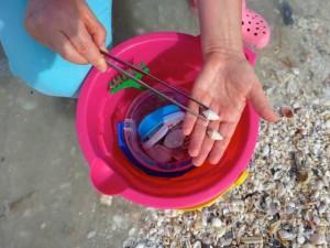 dusky cones pink bucket