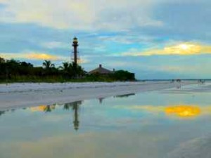 lighthouse sunset colors sanibel