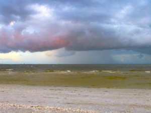pink storm clouds sanibel