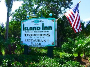 Island Inn Sanibel Street Sign