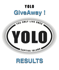 YOLO GIVEAWAY logo RESULTS