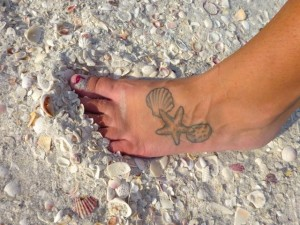 seashell tattoo Ashley