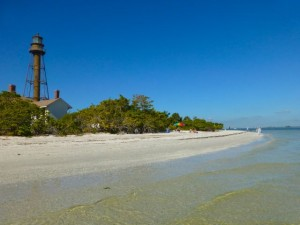 sanibel lighthouse beach low tide