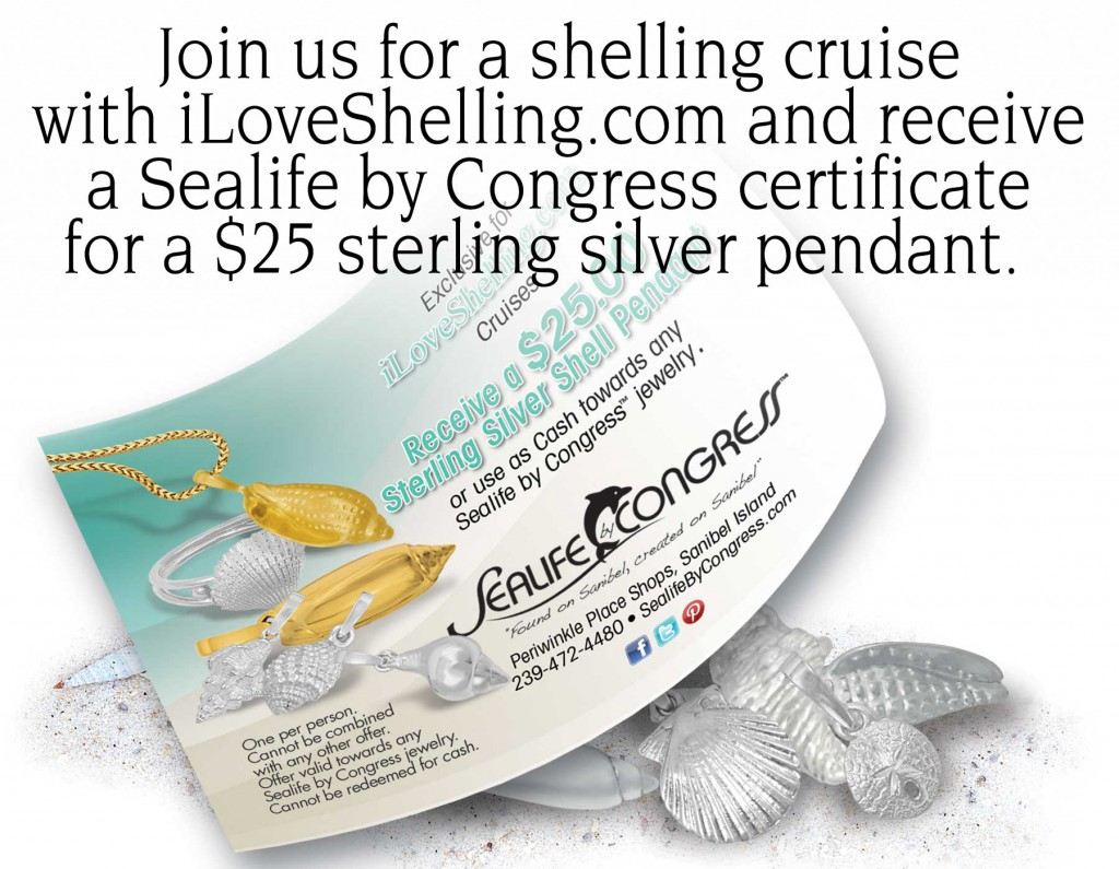 Sanibel Sealife Congress Jewelers gift certificate