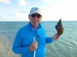 Clark with horse conch bp