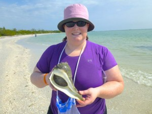 Erin live lightning whelk cayo
