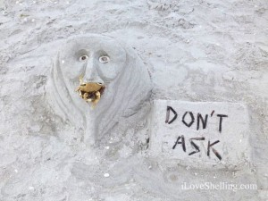 dont ask beach art sand