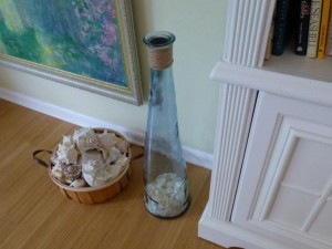 jingle jar seashell decor