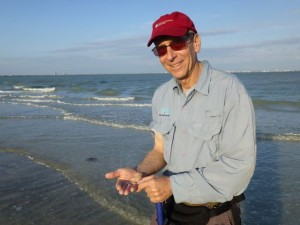ken collects shells sanibel