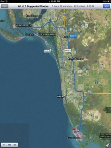 map from Sanibel to marco