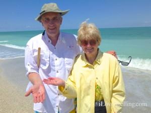 roger cindy collecting sharks teeth shellabaloo