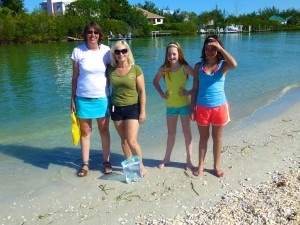 megan sheila cheyenne rebekah sanibel beach