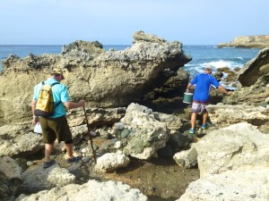 climbing rocks for shells guantanamo cuba