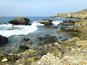 scenic water rock view guantanamo bay cuba