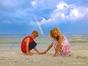 brady katie tampa visit sanibel rainbow
