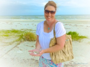 jill sand dollars sanibel beach