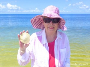 marie with sand dollar cayo costa shellabaloo 3