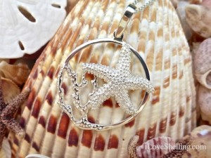 starfish necklace sea life by congress