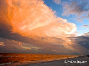 dusk sanibel island florida cloudy sky