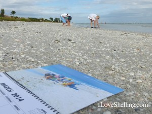 March Sanibel Stoop Calendar with ladies on Beach