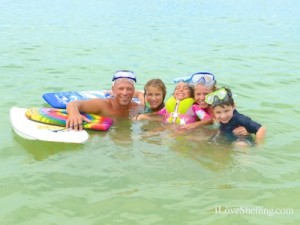 donnie shellinator snorkeling family