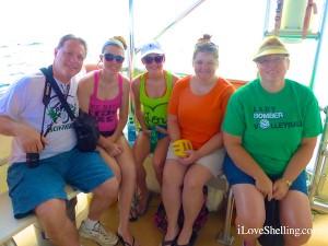 tim, elizabeth, jane, karen, lesley KY shelling cruise