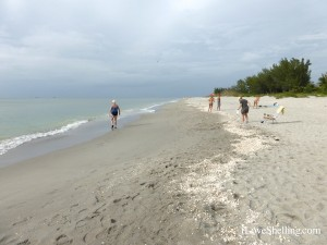 captiva beach with string of shells