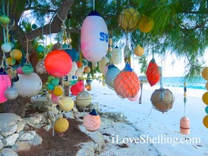 cat island decorate buoy tree
