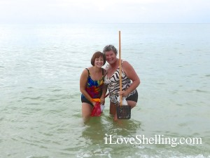 kathy pat shelling the water captiva