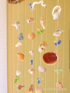 seashell mobile close shells