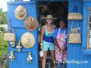 straw hats by emily cat island bahamas with pam