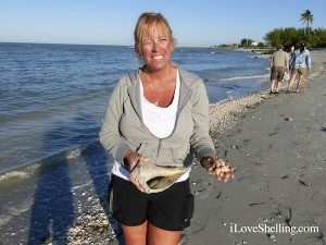 wendy md with shells from sanibel florida