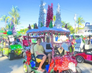 Doc Fords Golf cart christmas parade