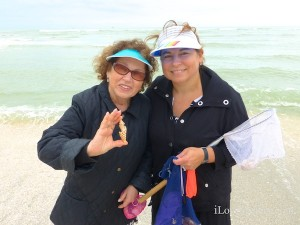 helene wendy from new york visiting Sanibel Florida for shells
