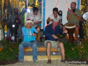 pam clark playing the saw captiva drum circle