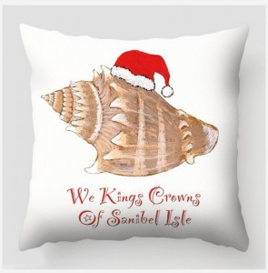 Christmas sea shell pillow