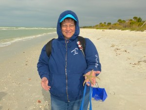cheryl finds starfish cayo costa